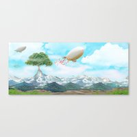 ballon Canvas Prints featuring Ballon Skyline by The Film Guy