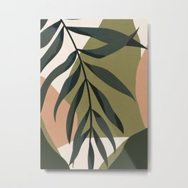 Tropical Leaf- Abstract Art Metal Print