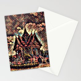 Glowing Temple Stationery Cards