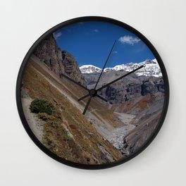 The Path to Thorung Phedi Wall Clock