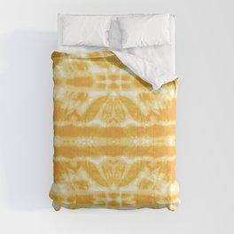 Yellow Tie Dye Twos Comforters