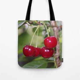 Cherries, fresh on the tree Tote Bag