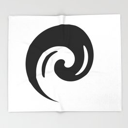 Yin Yang Exagerated Throw Blanket