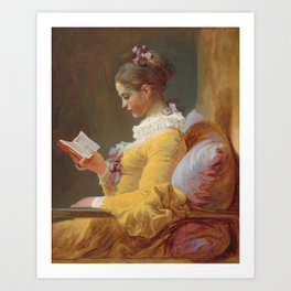 Young Girl Reading Painting by Jean-Honoré Fragonard Art Print