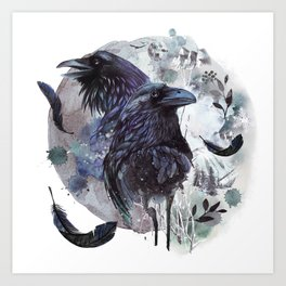 Full Moon Fever Dreams Of Velvet Ravens Art Print