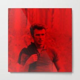 Clint Eatswwod - Celebrity (Photographic Art) Metal Print