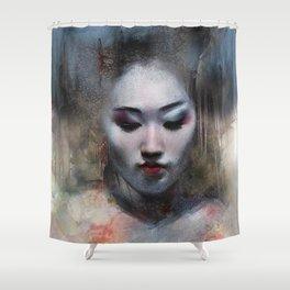 The ikebana woman Shower Curtain