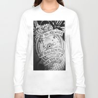 compass Long Sleeve T-shirts featuring COMPASS by Gabrielle Wall