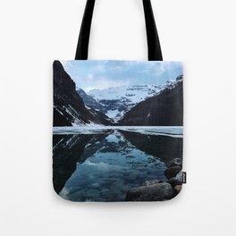 Lake Louise at sunset Tote Bag