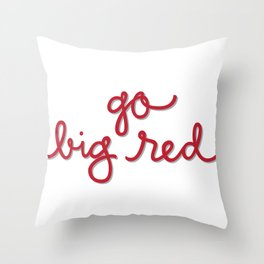 Go Big Red Throw Pillow