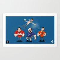 inside gaming Art Prints featuring Inside Gaming  by Haizeel Hashnan