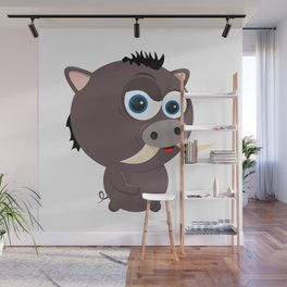 Cartoon Boar Wall Mural