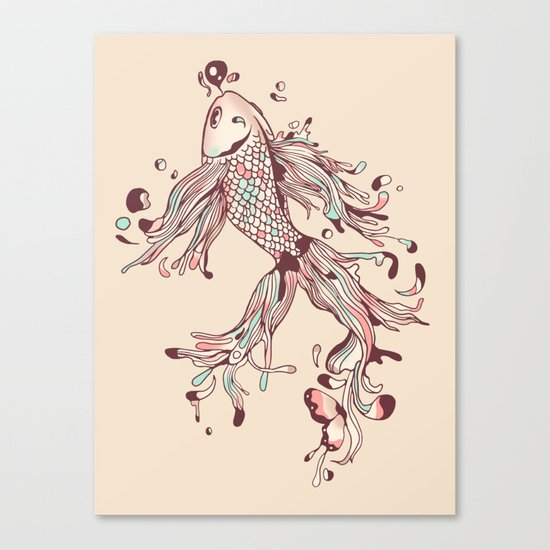 Flowing Life Canvas Print