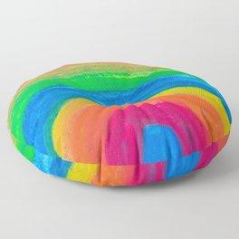 Rainbow fun abstract Floor Pillow