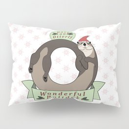 Otterly Wonderful Holiday Pillow Sham