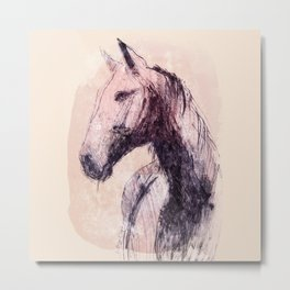 Horse (Handsome in colour) Metal Print
