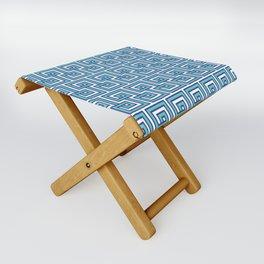 Greek Key - Turquoise Folding Stool
