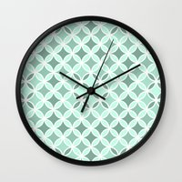 vector Wall Clocks featuring Vector by HelmichDesign
