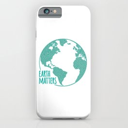Earth Matters - Earth Day - Watercolor Dots 01 iPhone Case