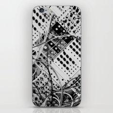 analog synthesizer  - diagonal black and white illustration iPhone & iPod Skin
