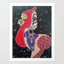 Jessica Sugar Skull Art Print