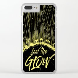 Feel the Glow // moonlight version Clear iPhone Case