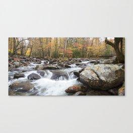 Little Pigeon River Bridge Panorama Canvas Print