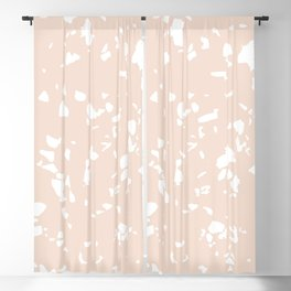 Terrazzo Taupe Blackout Curtain