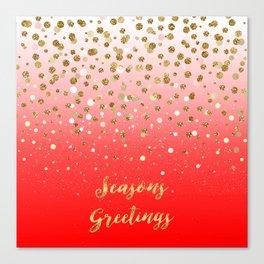 """Confetti Xmas """"Seasons Greetings"""" Canvas Print"""