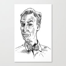 Bill Nye Portrait Canvas Print