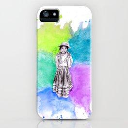 Peru Girl iPhone Case