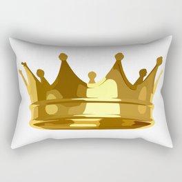 Royal Shining Golden Crown for King or Queen Rectangular Pillow