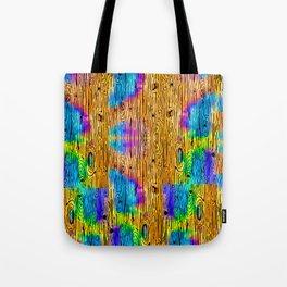 Technicolored Dream Plank Tote Bag