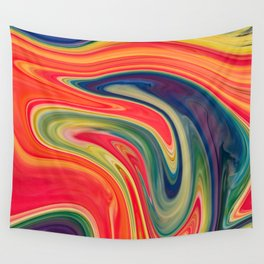 Colored Swirls 13 Wall Tapestry