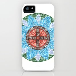 stained flower iPhone Case