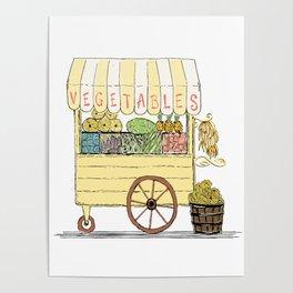 Vegetable Cart Poster