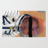 spaceman Area & Throw Rugs featuring Spaceman No:2 by FAMOUS WHEN DEAD