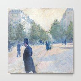 "Gustave Caillebotte ""Place Saint-Augustin, foggy weather"" Metal Print"
