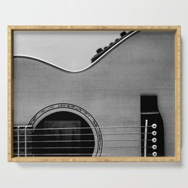 acoustic electric guitar music aesthetic close up elegant fine art photography  Serving Tray