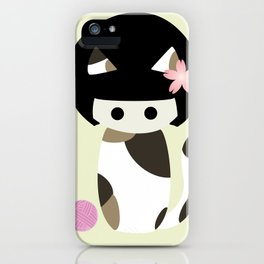 Calico Kokeshi iPhone Case