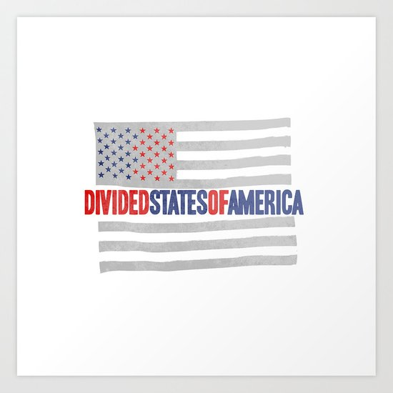 divided states of america Art Print