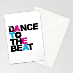 Retro Dance Beat EDM Quote Stationery Cards