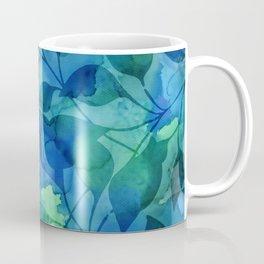 Alcohol Ink Leaves Coffee Mug
