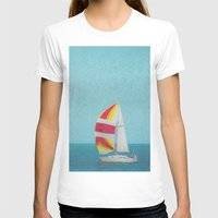 sailboat T-shirts featuring Bright Sailboat by Pure Nature Photos