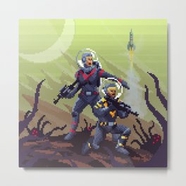 Ambush on planet X Metal Print