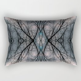 Tree and clouds, mirrored Rectangular Pillow