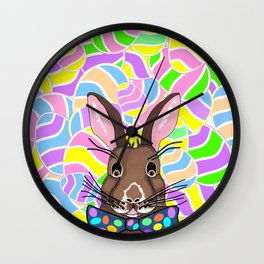 Easter Bunny Easter Eggs - Happy Easter Wall Clock