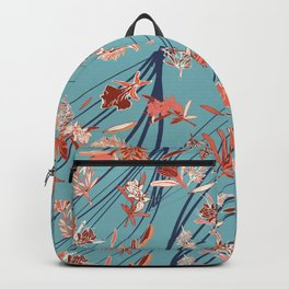 happy floral with movement and layers Backpack