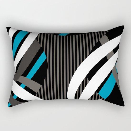 Wired Blue Rectangular Pillow