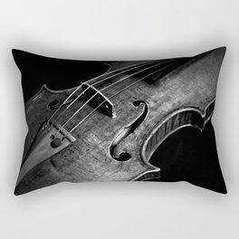 Black and White Violin Rectangular Pillow